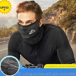 Ice Protection Seta Earloop senza saldatura maschera di protezione di sport esterni protezione solare traspirante Bandana Estate Sciarpa al collo DDA5