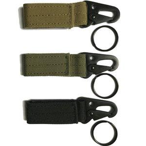 سلسلة مفاتيح عسكرية مولية عالمية تكتيكية في الهواء الطلق حزام الترس البقاء حامل مفتاح حلقة Nylon Webbing Key Snap Hook