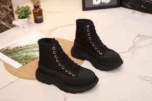 Протекторные скользкие сапоги 2020new muffin shoes толстая подошва увеличение холст высокие ботинки для женщин little chap shoes