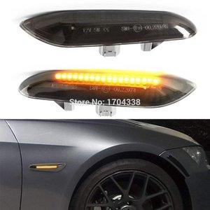 배 황색 LED 사이드 마커 회전 신호등 BMW E90 E91 E92 E93 E46 E53 X3 E83 X 1 E84 E81 E82 E87 E88 연기 렌즈 스타일 블랙