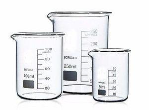 Al por mayor + 150 + 100 + 250 400ml Forma Laboratorio de Química baja Vaso Vaso de vidrio borosilicato espesado con la nave libre del surtidor