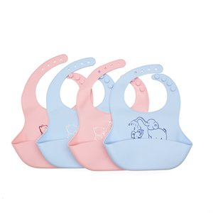 Cartoon Silicone Baby Bibs Waterproof Toddler Kids Adjustable Food Bib Baby Feeding Stuff Burp Cloth Boy Girl Bib Apron BPA Free