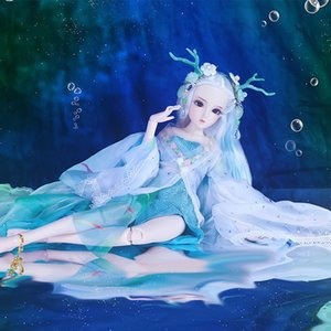 Diario Queen 1/4 BJD Muñeca Blyth Body Body Little dragon girl con maquillaje incluye atuendo para el cabello y caja de regalo juguetes para regalos ICY, SD