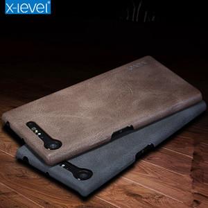 حافظة جلدية بتصميم ريترو مستوي من سوني لهواتف سوني اكسبيريا XZ Z3 Z5 XZ2 XZ3 بريميوم XA X Performance XA1 XA2 بلس الترا XZ1 XZ2