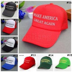 Donald Trump Cap 16 Styles Trump 2020 Hat Make America Great Again Baseballmütze Outdoor-Sommer-Strand-Hüte OOA6847-14