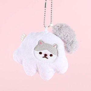 48% Cartoon comet man cute cat claw tail plush keychain Girls Bags Couples School Bags pendant wj01