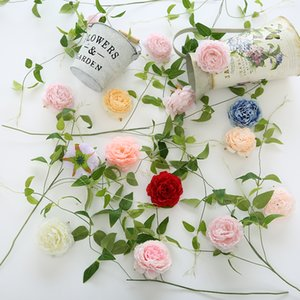 50pcs 7 couleurs 8 cm rond pivoine artificielle tête de fleur réaliste fleurs de simulation pour la décoration de mariage