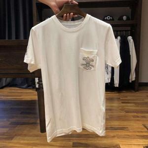 CH lusso maglietta casuale del progettista del Mens Red lingua stampa Estate Uomini donne di alta qualità Tees 14 Styles