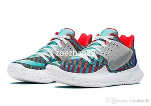 Best Kyrie Low 2 Multi-Color for sale With Box new Irving 2 Basketball shoes shop free shipping US7-US12