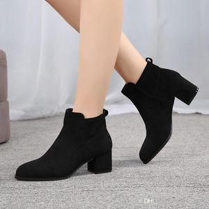 Hot Sale-Mens popolare stivali di pelle a buon mercato caldi belle scarpe da donna Stivali bassi confortevole scarpa