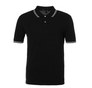 Mens marque polos couleur unie rayé broderie crocodile conception Tops T-shirts Hommes Casual T-shirts à manches courtes