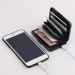 2 in 1 E-Charge Wallet Wallets And Purses Ladies Clutch Coin Wallet Power Bank Pocket Charger