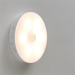 Human Induction Corpo Wall Lamp bateria de lítio USB luz wireless cobrando luz noite magnética para Corridor