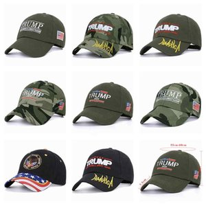 8 Styles Camouflage Baseball Caps Trump 2020 Election Hats Make America Great Again Embroidered Caps ZZA2121
