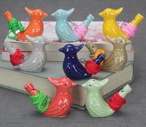 Frete grátis 100pcs / lot Pássaro Forma Whistle Crianças Ceramic água Ocarina Artes E Ofícios Kid presente para muitos estilos SN1310