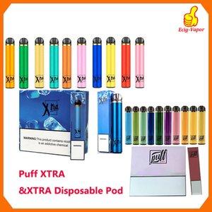 Puff Xtra Xtra Einweg-Geräte-Pod Kit 1500 Puffs Vorgefüllte 5ml Cartridge leistungsfähigste Batterie Vape Pen VS Puff Bar Flow-Posh Plus-Bidi