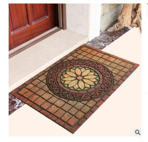 2020 hot sale Carpets European type rubber flocking entrance mat Villa mat Entrance mat plastic doormat Antiskid for entering the house