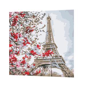 DIY Эйфелева башня краска по номеру комплект масляная живопись на холсте искусство украшения дома