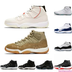 11 Platinum Tint Concord 45 Mens Basketball Shoes 11s XI Cap and Gown Olive Lux Gamma Blue UNC Trainer Sports Sneakers