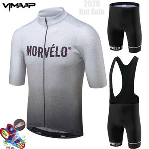 2020 Morvelo Cycling Clothing Bike jersey Quick Dry Mens Bicycle clothing summer team Cycling Jersey 19D Gel bike shorts set