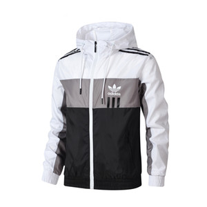 venda quente nova marca camisola Hoodie Men Jacket Brasão manga comprida com logotipo Autumn Sports Zipper Windcheater Designer Mens Clothes Hoodies