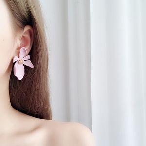 Wholesale-stud earrings Korean holiday personality exaggerated three-dimensional flower petals Bohemia earrings jewelry model no. NE887