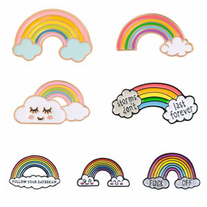 1pc Alloy Pins Rainbow Metal Collar Badge Brooches for Clothes Bags Backpacks Outdoor Party Costume Decorations Desktop Decor