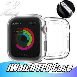 Для iWatch 5 Case 40мм 44мм 38мм 42мм Clear Soft TPU Полное покрытие серии 1 2 3 Screen Protector для Apple Watch 4