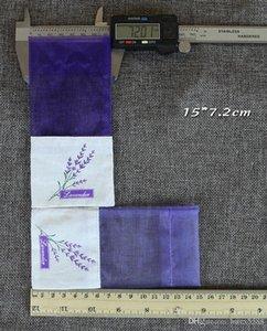 Bolsitas de algodón púrpura Organza lavanda DIY flor seca dulce Bursa armario Mouldproof humo bolsa de regalo