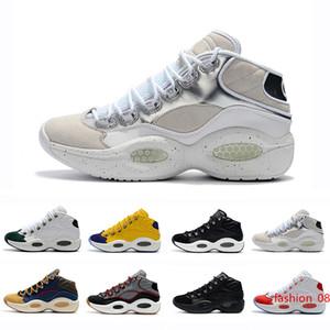 Nuevos zapatos de diseño Allen Iverson Pregunta Mediados de zapatos de baloncesto Q1 respuesta 1s para hombre Ampliar el Athletic de lujo Elite Deportes zapatillas de deporte EU40-46