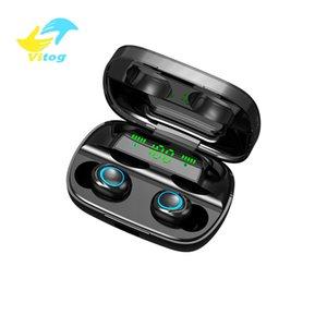 Güç Bankası Kulaklık Kulaklık ile Vitog S11-A Bluetooth kablosuz tws 5.0 Kulaklık 8D Stereo Kablosuz Kulaklık Mini Kablosuz Kulaklık Kulaklık