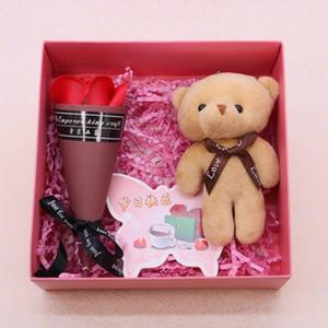Yaratıcı Yapay Sabun Gül Çiçek Çok Fonksiyonlu Vücut Temizleme Buket Anne Sevgililer Günü Hediye Çiçek Moda 7 8dj BB