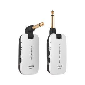NUX B-2 E-Gitarre Drahtloser Sender Empfänger System Tragbare Mini-Audio Kein Kabel 2,4 G Drahtlose Gitarrensystem für Bass