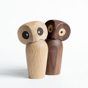 التماثيل مصغرة 1PC الخشب البومة زخرفة هدية الإبداعية الرئيسية اكسسوارات الديكور ديكور تمثال غرفة سطح المكتب الحديثة