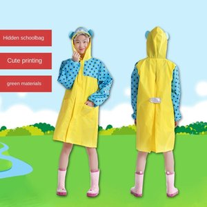 Cintura Impermeabile per bambini Scolastica Poncho Cloak Cartoon Raincoat Cloak Boy Girl Baby Pupil Bag Assessuale RSHBV