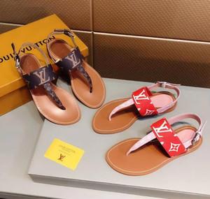 Para mujer para hombre DesignerLuxury sandalias Slide zapatos de moda de verano playa zapatos Zapatos negros del deslizador del flip-flop Box 2021904Q