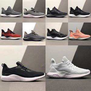 AlphaBounce beyonds 2020 adidas la venta caliente de alta calidad mármoles tiburón zapatillas fuera Negro Blanco Alfa caqui zapatos para hombre de la despedida de diseño
