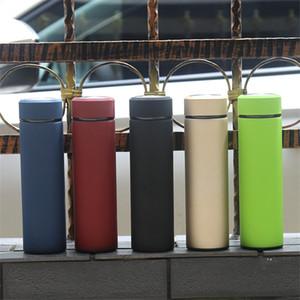 17oz Hayat Şişe Paslanmaz Çelik Düz Kupa İzoleli Kahve Mug Çift Duvar Portatif Su Şişesi Vakum Seyahat Flask Hediye Şişeler A03