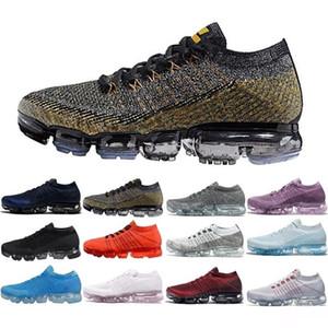 2018 Top Knit max vapormax 1.0 Fly Femmes Hommes Shock Racer Chaussures De Plein Air Triple Noir Bleu Rouge chaussures Maxes Sports Sneakers Baskets taille 36-45