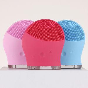SICAK Elektrik Yüz Temizleme Aracı Silikon Yüz Temizleyici Titreşim Cilt Masaj Cihazı Cilt likit Ücretsiz Shippingg