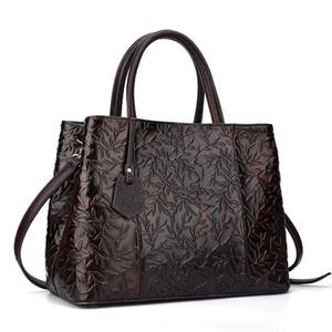 saco de couro grosso cabeça camada cor escova Designer-New Handmade Leather Bag Messenger Bag Handbag retro