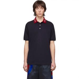 Herren Designer Polo-Hemd-Paar-Hemd Lustige Top Tees Casual Men Shirts Straßen Herren Bekleidung Kurzarm Mode Polohemd schwarz weiß kk
