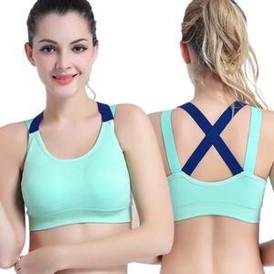 Frauen Stretch Workout Tank Top Seamless Fitness Yoga Padded Sport-BH Laufen Unterwäsche Push Up Seamless Yoga Top Bra