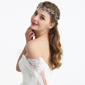 2019 European hot sale explosion bride retro rhinestone hair band headband   new multi-style metal leaf handmade handmade bridal headdress