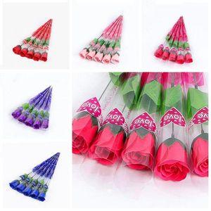 Duftbadeseife Rose Soap Blütenblatt für Hochzeit Valentinstag Muttertag Tag des Lehrers Geschenk LXL1177-1
