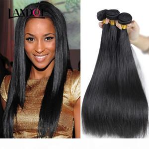 Brazilian Virgin Human Hair Weave Bundles Unprocessed Brazillian Peruvian Indian Malaysian Cambodian Straight Body Wave Remy Hair Extensions