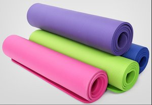 Eco-friendly NBR Yoga Mat Customizable Stripe Yoga Supplies Non-slip indoor and outdoor fitness equipment yoga mat with bandage A07