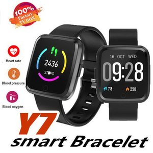 Y7 Smart watch Bracciale Monitor di frequenza cardiaca impermeabile Monitor di pressione sanguigna Sport tracker smartwatch per Android IOS