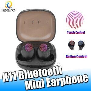Cancelación de ruido auriculares Bluetooth Wireless HD K11 Música Estéreo Mini Auriculares para Samsung Nota 10 Huawei Mate de 30 Xiaomi LG auriculares izeso