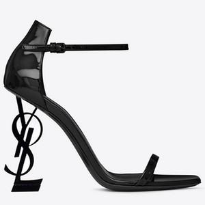 hot3C new01 Latest1 Real Leather Black Star Zapatos del mismo estilo en 2019 Super High-heeled Sexy Night Club Altura del tacón 8CM / 10CM